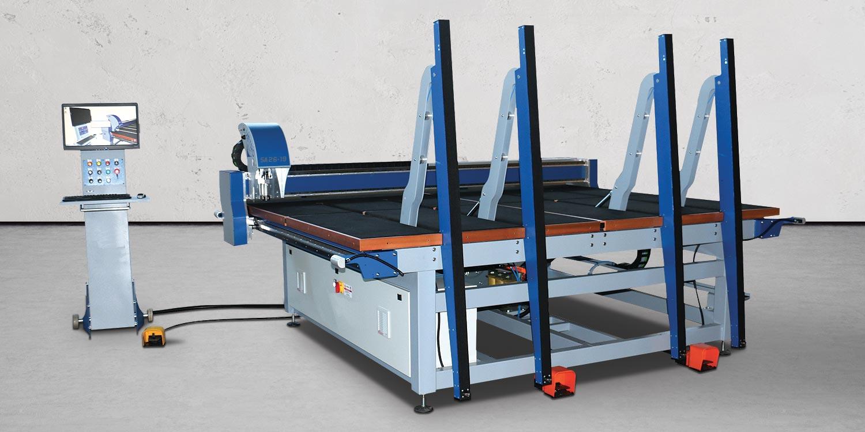 Macchine lavorazione vetro tavoli da taglio - intro
